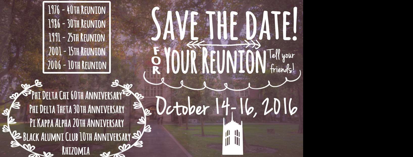 Reunions at Homecoming 2016